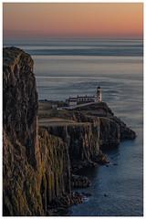 lighthouse at sunset (juhwie.foto - PROJECT: LEIDENSCHAFT-LICH-T) Tags: lighthouse leuchtturm scotland schottland skye isleofskye neistpoint neist rocks beautifulscotland landscape landscapephotography travel wanderlust pentax pentaxart k3ii ricohimaging ngc