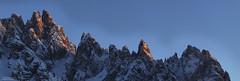 Cadini di Misurina - Sunset panorama of the needles (Bernhard_Thum) Tags: bernhard thum alps hasselblad h6d100 zeisssuperachromat56300 dolomiti dolomiten dolomites sunset capturenature elitephotography cadinidimisurina rockpaper