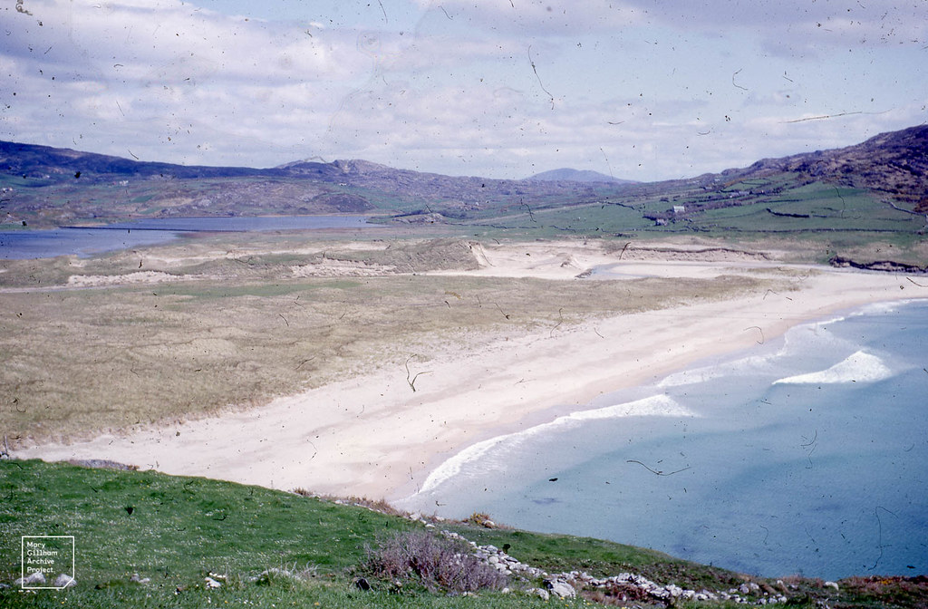 Barley cove beach dunes + East side of lagoon from Mizzen Head Road. Cork.