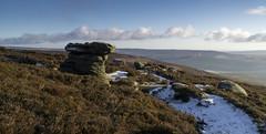 Druid's Stone (l4ts) Tags: landscape derbyshire peakdistrict darkpeak kinderscout edalemoor gritstone heather moorland snow ice druidsstone gritstonetor geology