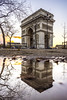 Paris, France - Twice the Arch, double the Triumph (pierrepphotography) Tags: arcdetriomphe paris france puddle sunset