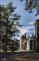 BucksCountyFonthill_Nov162017_0124 (Roni Chastain Photography) Tags: fonthill mercer museum doylestown pa castle sky clouds landscape fall