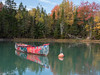 Old Canoe Kilkenny Cove Maine (Dean OM) Tags: canoe fall color reflection red maine me mooring landscape panasonic gh5 15mm