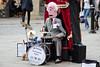 I think he spotted me? (Philip R Jones) Tags: chester busker street streetperformer mrpeewee mrpeeweethedrummingpuppet