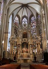 Blick auf den Altar im Erfurter Dom (sabine1955) Tags: domkirchealtarfenstererfurt