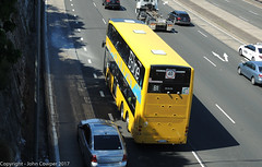B-Line - Northern Beaches - ST2872 climbs the Warringah Freeway towards Neutral Bay (john cowper) Tags: bline northernbeaches warringahfreeway northsydney bus transportfornsw statetransit doubledecker sydney newsouthwales