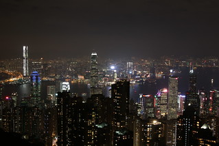 Victoria harbour from the peak in Hong Kong