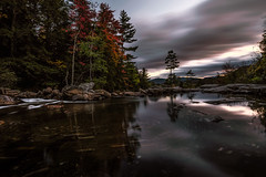 Mountain Pool (Walter Levin) Tags: newhampshire whitemountains fall autumn pool evening sunset reflections trees foliage waterfalls light longexposure d810