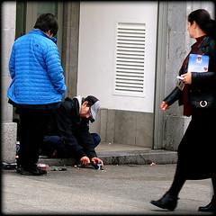 Walk on by (* RICHARD M (6.5+ MILLION VIEWS)) Tags: street candid dinner homeless downandout despair sad hopelessness signofthetimes austerity eatingout diningout alfresco sustenance hunger liverpool merseyside liverpudlians scousers scouse invisibleman streetlife citylife citydwellers europeancapitalofculture capitalofculture england unitedkingdom uk greatbritain britain britishisles poverty shame