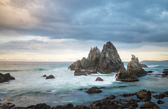 Camel Rock Sunset (laurie.g.w) Tags: camel rock sunset bermagui southcoast nsw coast rocky water waves sky cloud waterscape camelrock