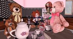 Teddy Tea party (MySLAdventures) Tags: firestorm secondlife teaparty childavi teddybear