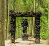 'The Devil and Lucifer's Gate' - hill of witches, Juodkrantė, Lithuania (Russell Scott Images) Tags: woodcarvings hillofwitches raganųkalnas outdoor trail sculptures forested sanddune curonianspit folklore pagan juodkrantė lithuania thedevilandlucifersgate