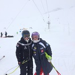 U16's from Big White, Red Mountain and Black Dogs Ski Club training in Tignes, France - Lauren Koper and Tessa Worley