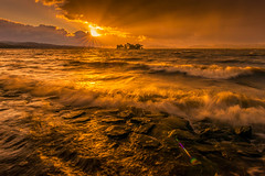 sunset 2940 (junjiaoyama) Tags: japan sunset sky light cloud weather landscape orange contrast color bright lake island water nature wave fall autumn sunburst