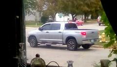 Silver pickup - HTT (Maenette1) Tags: silver pickuptruck window neighborhood menominee uppermichigan happytruckthursday flicker365 michiganfavorites