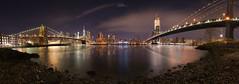 Dumbo Panorama (willblakeymilner) Tags: nikon park night bridge nightscape city usa panorama cityscape america new york nyc manhattan brooklyn us tamron d810