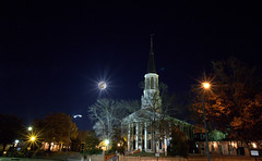 _MG_2847.CR2.psd (jalexartis) Tags: fayetteville fayettevillenc fayettevillenorthcarolina moonrise firstpresbyterianchurch moon night nightphotography nightshots