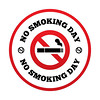 No smoking day sign. Quit smoking day symbol. (teresademussy) Tags: abstain addiction bad break burn cigar cigarette circles day design filter flat forbidden graphic habit icon illustration information issues narcotic nicotine no pernicious pictogram places prohibit prohibition public quit red round shadow sign smoke smokers smoking smoldering stop symbol tobacco toxic unhealthy vector warning