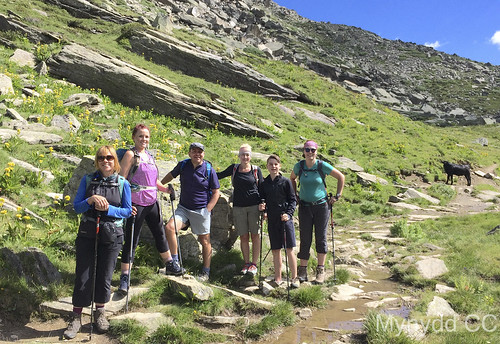 Penny Ellie Rob Catherine Rab and Sonja Post Cow Licking Grand Paradiso National Park Photo M Ward