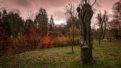 Hrasce, Postojna - Slovenia (DiSorDerINaMirrOR) Tags: slovenia hrašce postumia postojna nature naturephotography naturepics natura autumn autumnalcolours sony sonyalpha sonyalpha6000 sony6000 wilderness wild woods statue