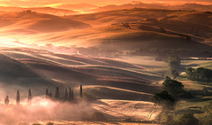 tuscan light (Explore #1) (shutterbug_uk2012) Tags: italy tuscany sunrise dawn val dorcia layers mountains valleys colours mist trees cypress landscape warm golden light nikon autumn