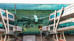 Reflexes (johnfranky_t) Tags: johnfranky t riflesso scale vetrata finger airport morori ali verde engine