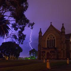 Lightning over the Redemptorist Monastery (GregRowney) Tags: perth westernaustralia lightning monastery church night