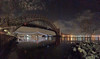 Hellgate from the rocks (Andrew Aliferis) Tags: photosynth iphoneography astoria queens east river hellgate railroad bridge rfk triboro new york city lights water nighttime reflections panorama andrew andy aga aliferis