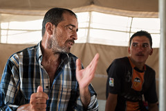 Iraq. A refugee tells me how his family was killed by ISIS. He has already spent months in this camp and may never be able to return home. (rvjak) Tags: irak iraq refugee tent tente réfugié d750 nikon men hommes middleeast moyenorient kurdistan camp