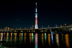 D850 - Tokyo Sky Tree tower (gemapozo) Tags: tokyo asakusa d850 tokyoskytree nikon night japan tower 東京スカイツリータワー 隅田川 浅草 afsnikkor1424mmf28ged