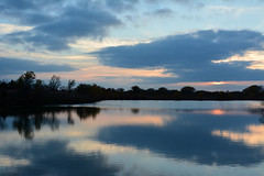 Portrait Light? (NaturalLight) Tags: sunset water reflections bluehour blue chisholmcreekpark wichita kansas