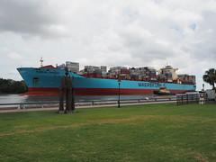 PA090653 (Matt Lancashire) Tags: usa georgia savannah maersk shipping container savannahriver