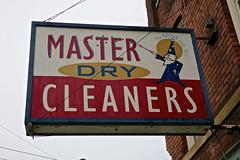 Master Dry Cleaners, Binghamton, NY (Robby Virus) Tags: binghamton newyork ny upstate master dry cleaners laundry sign signage closed