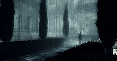 (ConnecteD\_) Tags: theevilwithin tangogameworks bethesdasoftworks survival horror screenshot outdoor rain alone path twilight