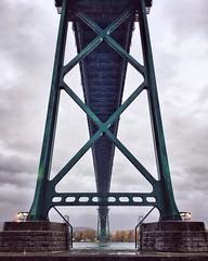 Under the bridge (CNorth2) Tags: bridge water cloudy lionsgatebridge vancouver stanleypark canada travel