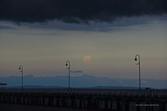 Full moon rising under shelf cloud at Sandgate Pier Shorncliffe IMGP2986d (john.robert_mcpherson) Tags: bay bramble full moon shelf cloud