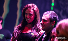 Monaco International Clubbing Show (Dan Fegent) Tags: red monsterenergy monsterenergygirls girls women flames show monaco mics monacointernationalclubbingshow event indoors canon1dx montecarlo fullframe eos fun cool bar drinks alcohol sexy gorgeous blonde pretty fire people drinking work working monster djs