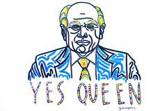 'Yes Queen' by Meg Minkley (Leighton Wallis) Tags: sony alpha a7r mirrorless ilce7r 55mm f18 emount sydney alexandria nsw newsouthwales australia mural johnhoward rainbow eyebrows