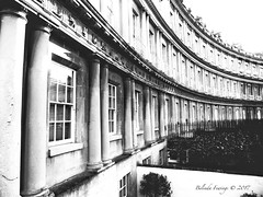 The Circus (Belinda Fewings (3 million views. Thank You)) Tags: history semicircle mono bw blackandwhite architecture building somerset bath panasoniclumixdmc belindafewings circus