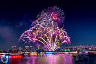 Tokyo Odaiba Rainbow Fireworks 2017 (December 2nd)