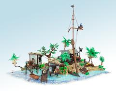 Black Flag (Legopard) Tags: lego assassin assassinscreed blackflag pirates caribbean sea mast palm gaming