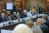 Dr Wessam Khedr, Head of Written Fatwa Department at the Dar Al-Ifta in Egypt, recites Qur'an during the opening session of the Fourth Annual IAG Meeting at Mashyakhet Al Azhar on 22 November 2017. (IAG for Polio Eradication) Tags: iag islamic advisory group polio al azhar