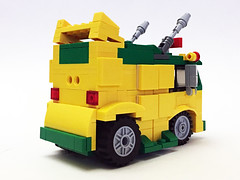 Nerdtron TMNT Party Wagon back (Oky - Space Ranger) Tags: lego bricknerd nerdvember nerdly nerdtron voltron defender 80s vehicles giant robot tmnt teenage mutant ninja turtles bttf back future ghostbusters ecto1 ateam van walkman