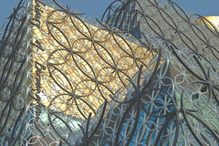 Library of Birmingham, UK (Chris Glover - Computer Problems (Nearly fixed)) Tags: library birmingahm uk england gold circle circles facade cladding clad geometric shape shapes shadow shadows perspective fascia