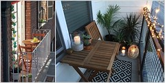 Small Balcony Designs with a String of Lights (kreatecube) Tags: kreatecube interiordesign interiordesigns tinybalcony balcony balconydecor topinteriordesignersdelhi topinteriordesignersindia