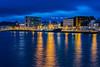 Aalesund by night (©jforberg) Tags: colors color colorful aalesund norway noregia norwegian norwegen light jon forberg blue hour fishing ålesund crane cityscape nightshot