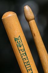 "20171106_9501_7D2-100 45+ year old Premier ""E"" drum sticks (johnstewartnz) Tags: canon canonapsc apsc eos fullframe nocrop 7d2 7dmarkii 7d canon7dmarkii canoneos7dmkii 100canon 100mm 100mmf28lmacro 100mmmacro macro macromonday macromondays memberschoicemusicalinstruments premier drumsticks premierdrumsticks madeinengland premiere"
