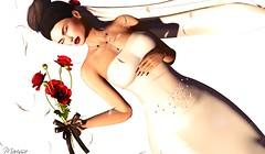 The Bride! (Marissa Almodovar Corleone) Tags: scandalize supernatural trunkshow formanails bride bento nail sl doll avatar dream lab hair bouquet ceremony
