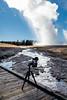 Live Instagram broadcast of an Old Faithful eruption (YellowstoneNPS) Tags: instagramlive jacobwfrank oldfaithful uppergeyserbasin ynp yellowstone yellowstonenationalpark fall fotopro geyser