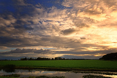 Crash (Alfred Grupstra) Tags: nature sunset cloudsky sky summer landscape outdoors dusk scenics cloudscape sun water beautyinnature reflection blue sunlight ruralscene lake sunrisedawn morning 998